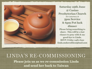 Linda's Re-Commissioning Service Flyer